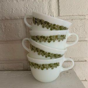 Set of 4 Pyrex mugs spring blossom- 1972-1979